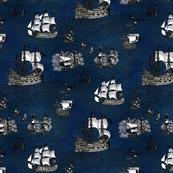 Pirate Ships Deep Blue
