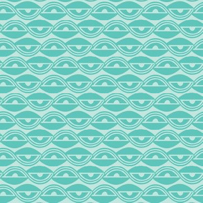 Lazy Days Geometric Teal - Summer Breeze