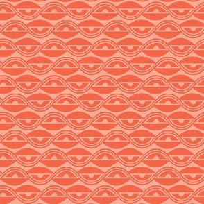 Lazy Days Geometric Red - Summer Breeze