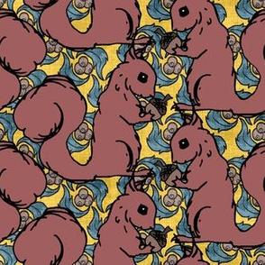Squirrels on Yellow