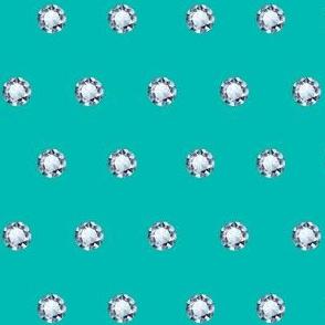 Diamond Polka Dots in Forever Blue