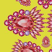 Jewelbox: Ruby Brooch on Citrine