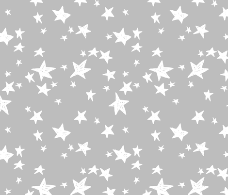 Stars slate grey stars fabric star design baby nursery for Star design fabric