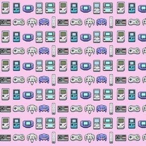 8 Bit Nintendo in Pink