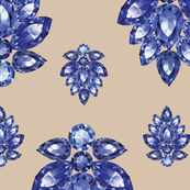 Jewelbox: Sapphire Brooch on Sand