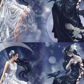 light and dark moon faeries