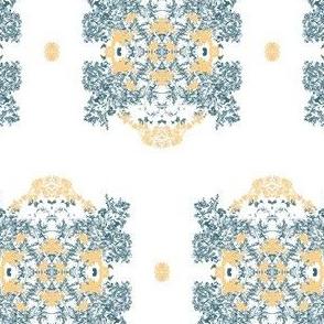 Tiny Filigree Flora [CreamGrey]