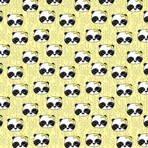 Panda with Bow - Lemon Yellow (Tiny Version) by Andrea Lauren
