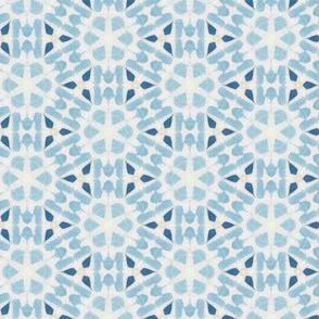 Sea Blue Faux Tie Dye