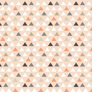 Blush Melon Triangles small scale
