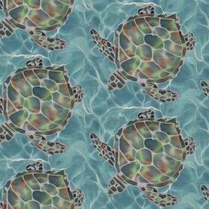 Caribbean Sea Turtles Half Drop