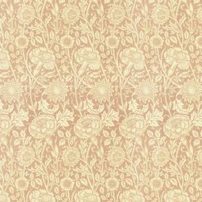 Vintage Floral Brown