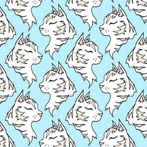 Cats on Powder Blue
