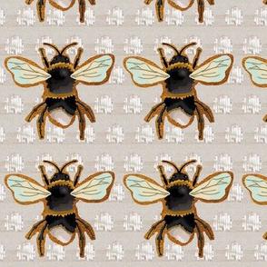 Golden Glitter Bumble Bee