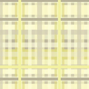 Spring Plaid in Pale Yellows, Greens & Grays