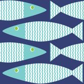 Wavy Bass - Navy Lime Eye