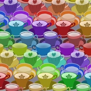 Rainbow Tea Cups Small