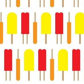 Popsicles - Red, Orange, and Yellow