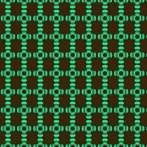 Beads Squares Aqua Black
