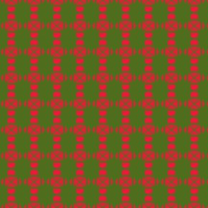 Beads Squares Red Green