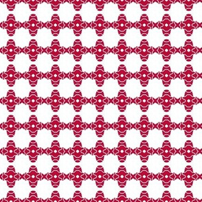 Beads Red Waves and Dots