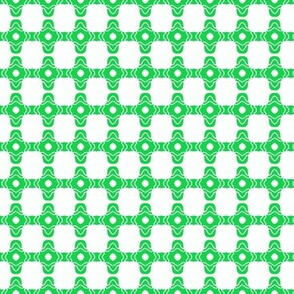 Beads Squares Green Dotted