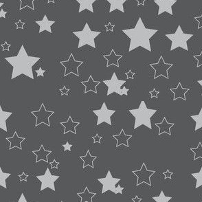 starry sky in grey