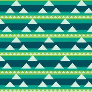 Triangle triad in lake
