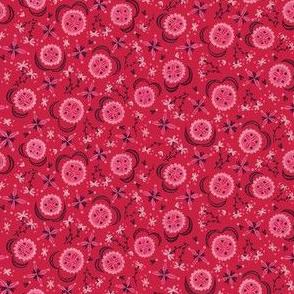Folksy Floral - Red