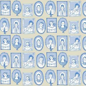 Regency Heroines in Blue