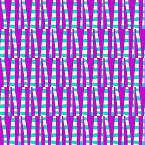 Striped Forest Purple Aqua