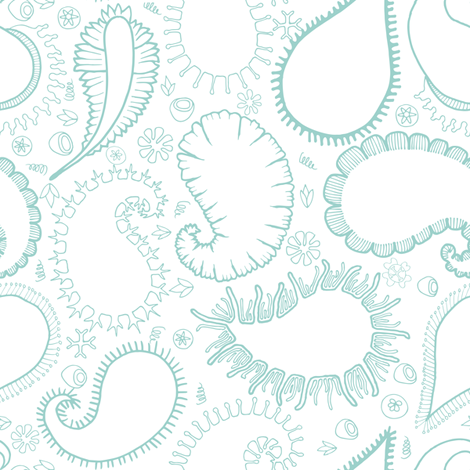Micro Organism Paisley Outline