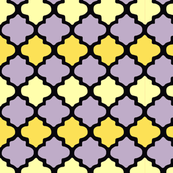 Purple & Yellow Toned Moroccan Tile Pattern
