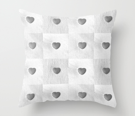Hearts pale grey