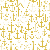Anchors - Mustard by Andrea Lauren