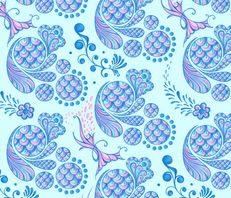 scales large light blue background blue pink pastel