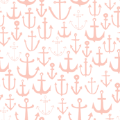 Anchors - Pale Pink by Andrea Lauren