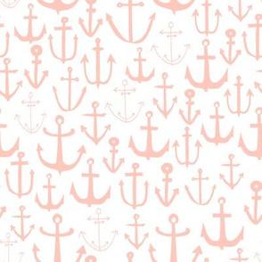 anchor // pink baby nursery fabric nautical fabric nursery baby anchors