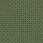 wave grid in green and bronze