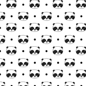 Panda Polka Dot - White (Tiny version) by Andrea Lauren
