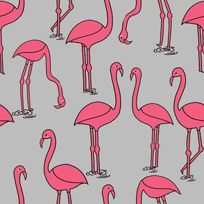 Flamingo - Grey by Andrea Lauren