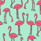 Flamingo - Pistachio by Andrea Lauren