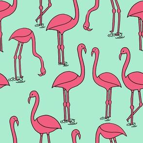Flamingo - Pistachio by Andrea Lauren