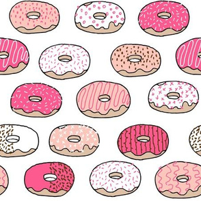 Donuts -Bright Pink, Pale Pink by Andrea Lauren
