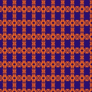 Beads Squares Orange Navy