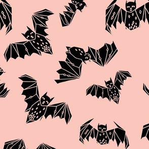 bat // halloween pink pastel pink bats kids nursery baby sweet pink spooky halloween