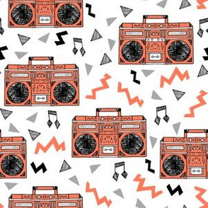80s boombox // music trendy 80s fabric 80s design