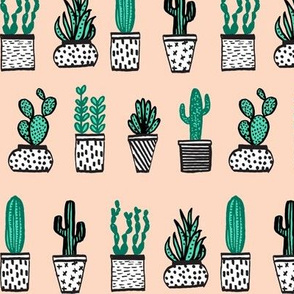 Potted Plants - Mini Succulents and Cactus - Blush by Andrea Lauren