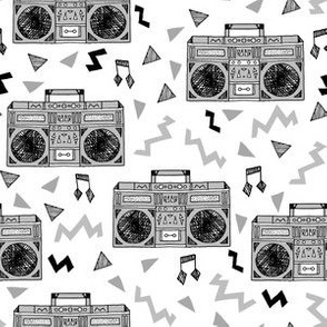 80s Boombox - Slate Grey by Andrea Lauren