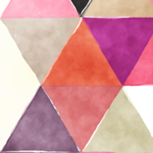 jewel watercolor triangles // oversized